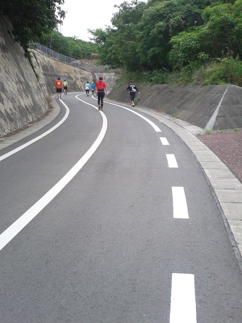 しまなみ海道ウルトラ遠足生田橋への上り坂