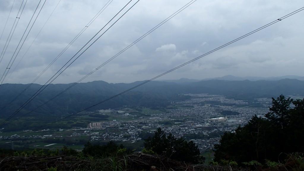 みすぎ山山頂から亀岡方面