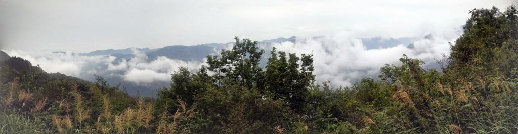 今日の山の上からの風景