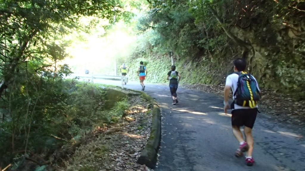 六丁峠の登り