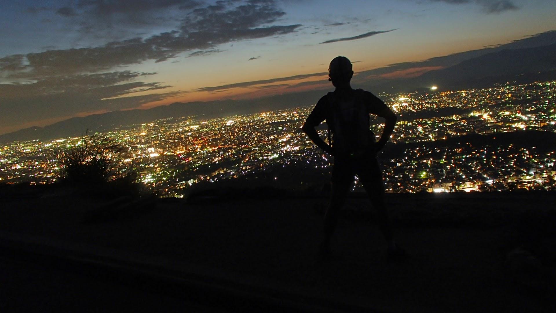 大文字山火床の夜景