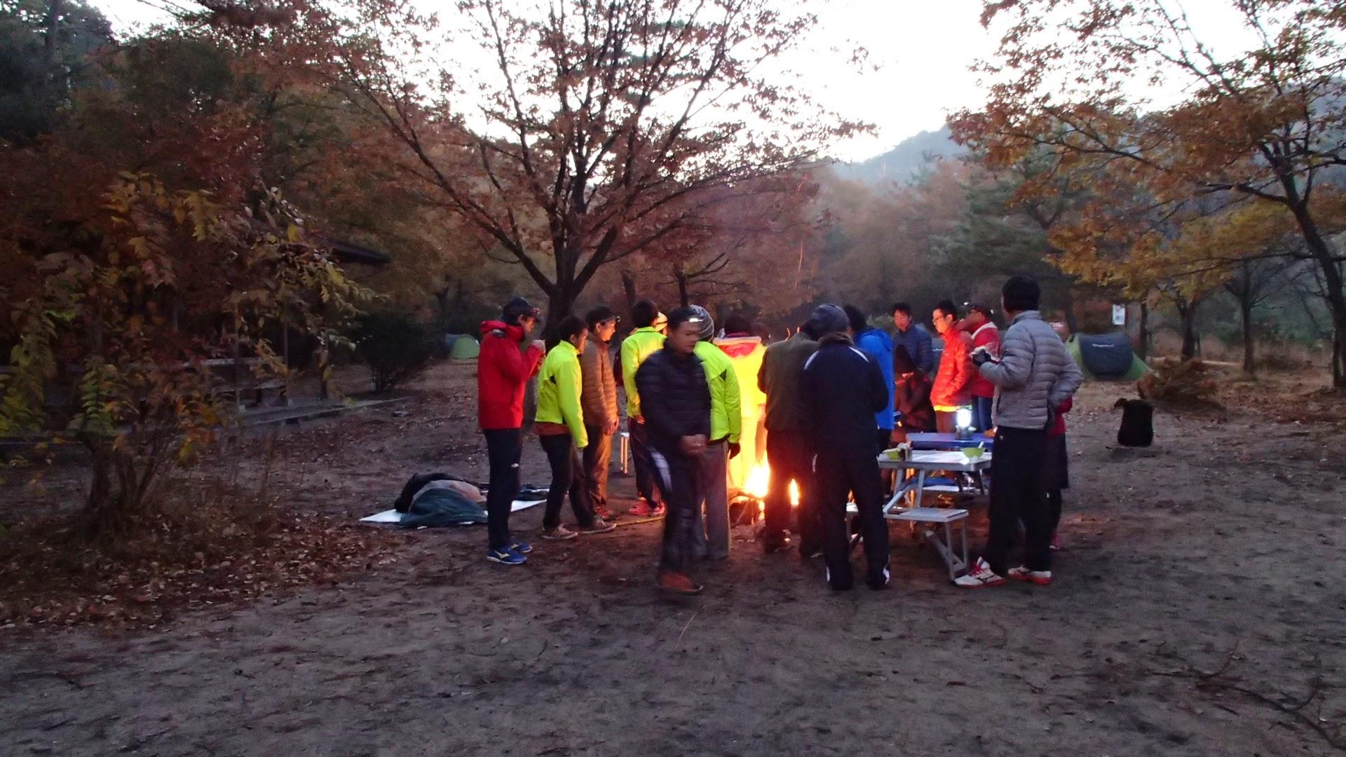 桐生キャンプ場の朝