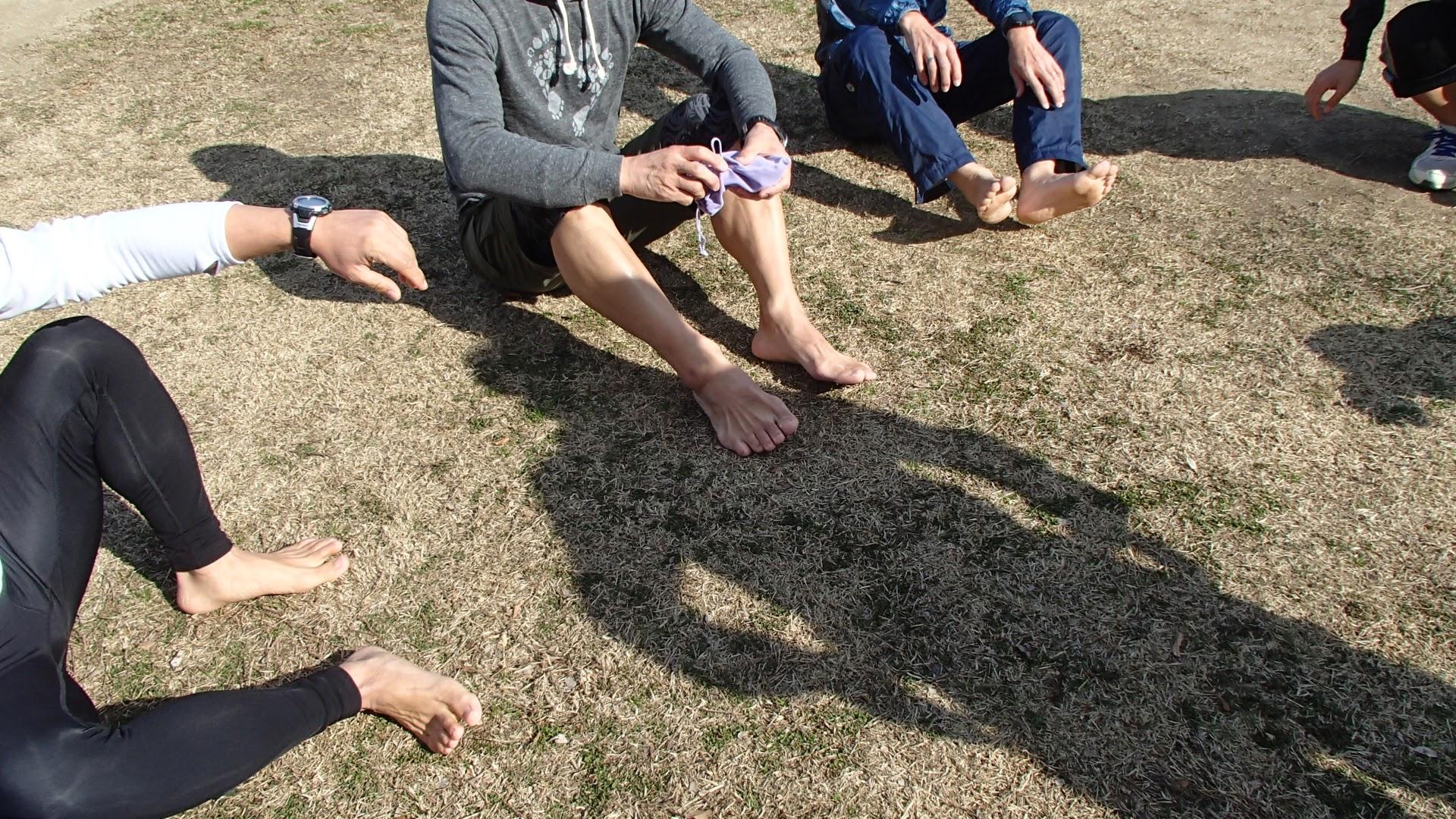 裸足ランニングクラブ大阪練習会