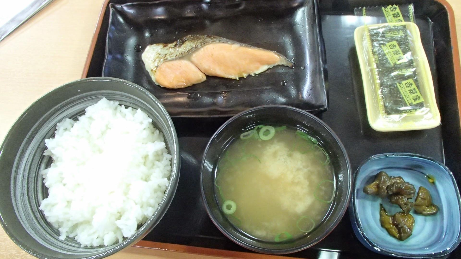 吉牛の鮭定食