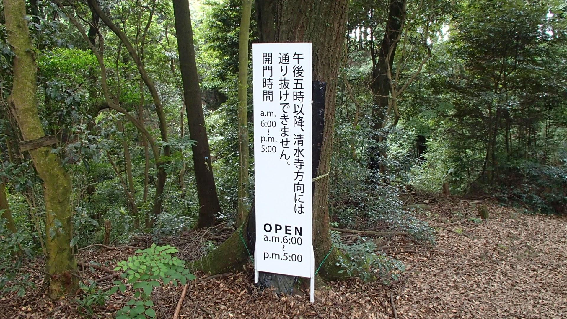 清水寺の裏