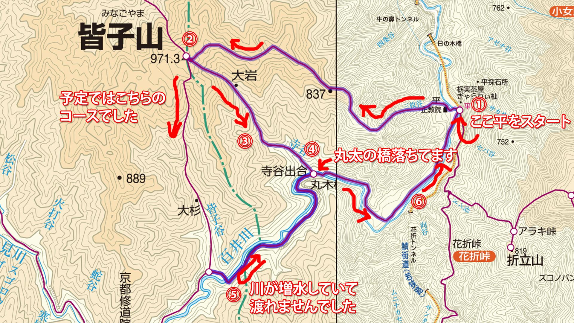皆子山(みなごやま)標高971m