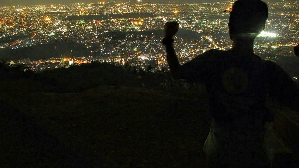 大文字山火床からの夜景