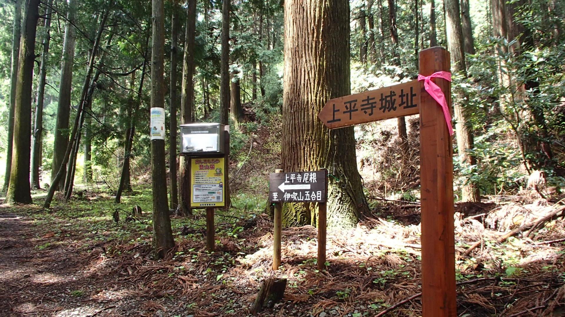 伊吹山への登山ルート