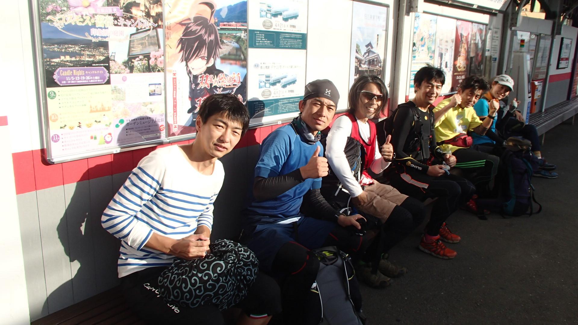 ゴールの叡山電車八幡前駅