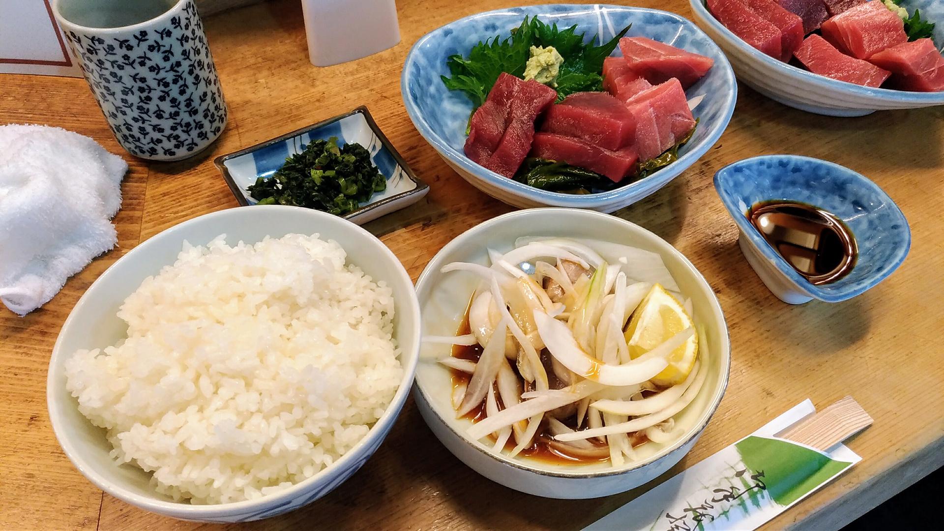 まぐろ料理 竹原 名物マグロ定食