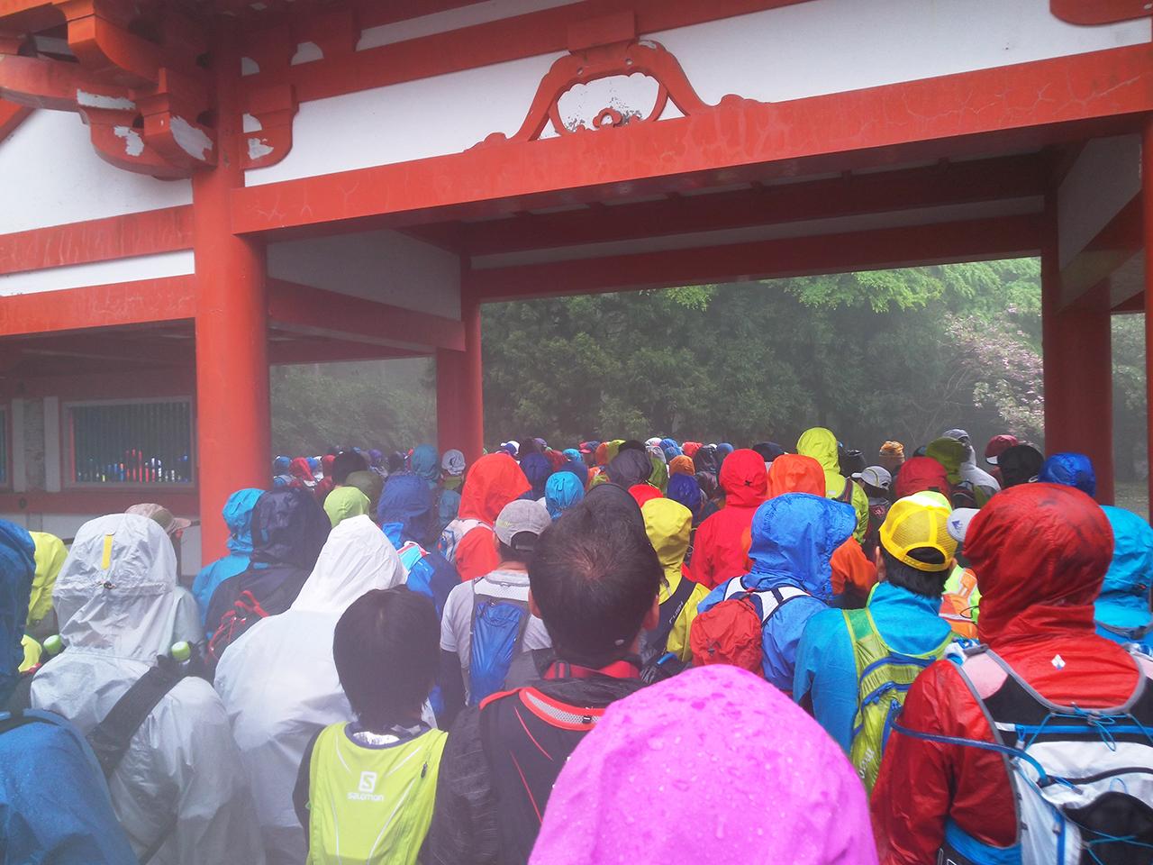 比叡山スタート直後の渋滞