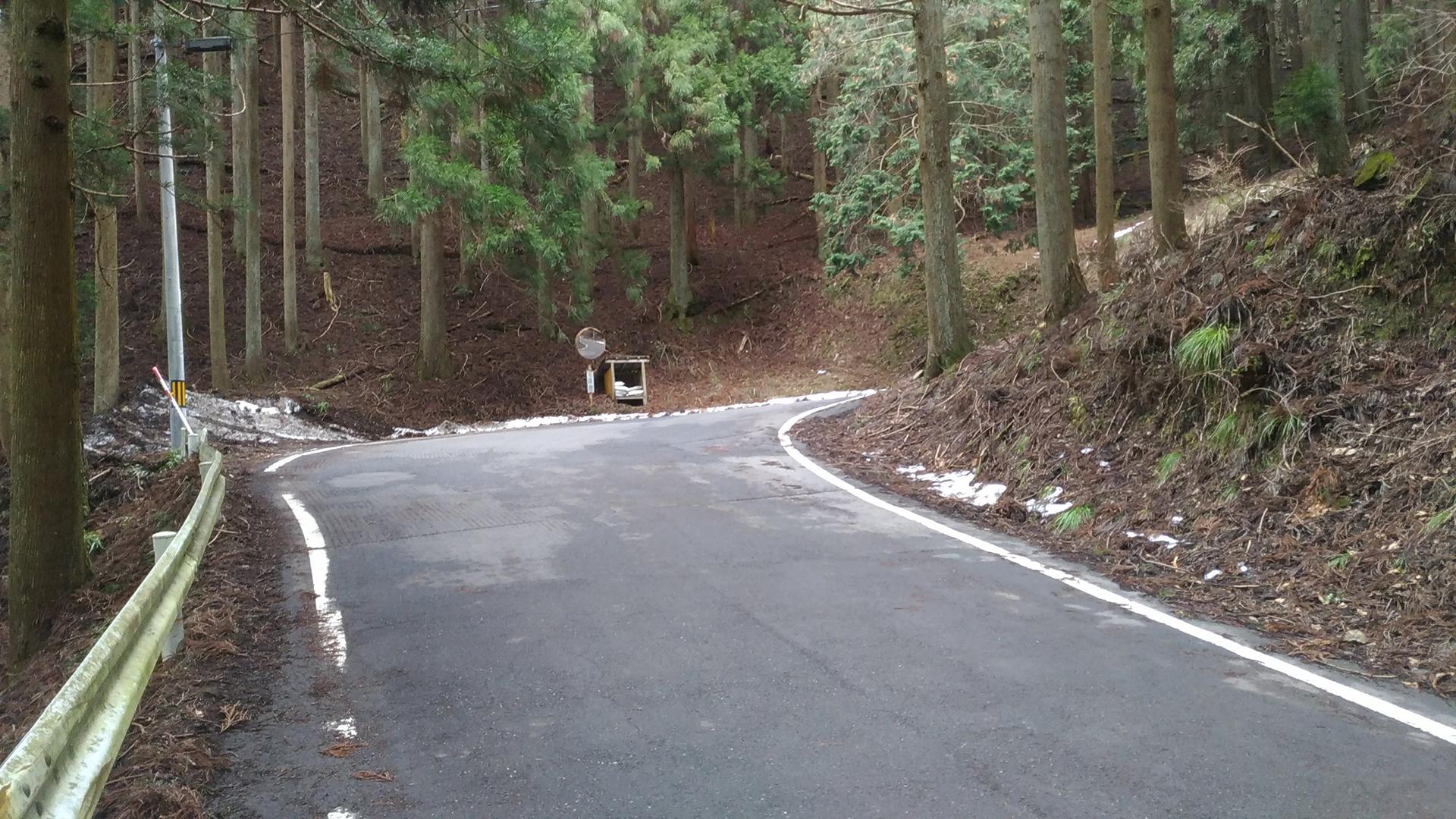 花脊峠まであと1Km
