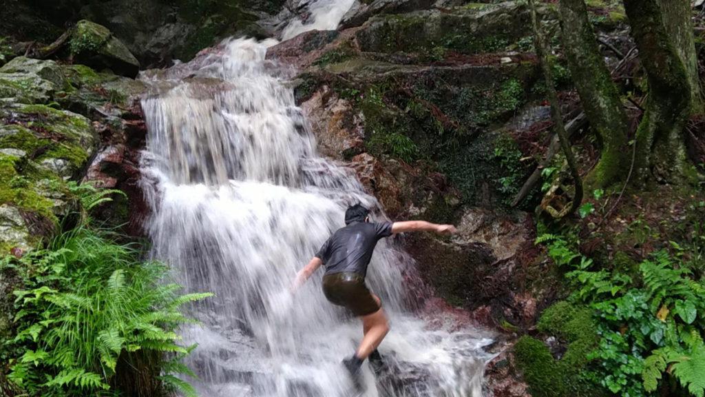 紫連滝(五段の滝)