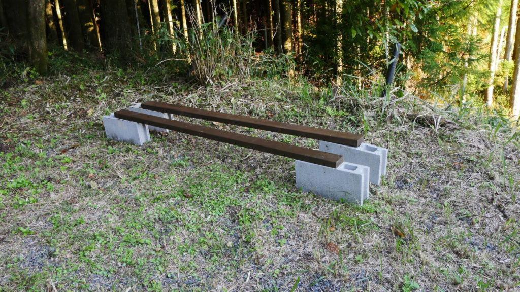 2×4材に屋外木材用塗料の水性塗料